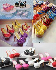 Tatacua | Receta para hacer zapatos cupcakes para mesa dulce