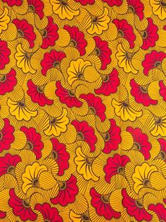 African Fabric Real Wax Print 6 Yards 100% Cotton