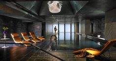 The Marker Hotel boasts a 23-metre infinity pool, sauna, steam room and fitness centre.