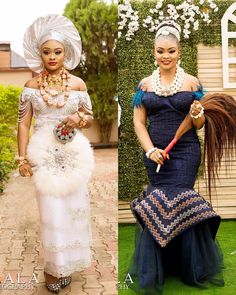 Image may contain: 2 people, people standing African Bridal Dress, African Wedding Attire, African Print Dresses, African Attire, African Dress, Indian Bridal, Nigerian Wedding Dresses Traditional, Traditional Wedding Attire, Igbo Bride