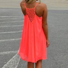 SUNNOW® Summer Dress Beach Dress Sleeveless Backless Loose Neckholder Chiffon Skirt Women's Mini Dress Party Dress