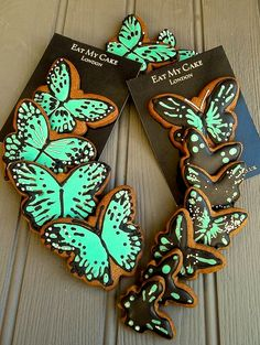 Hand iced butterfly biscuits from EAT MY CAKE LONDON