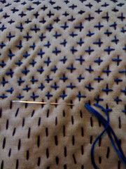 Sashiko. Simple lovely stitch pattern for mending.                                                                                                                                                                                 More
