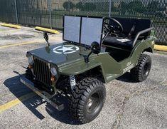 Massimo Jeep Off-Road 125cc Mini Go-Kar - 360powersports.com Cool Go Karts, Go Karts For Sale, Off Road Jeep, Mini Jeep, Mini Bike, Off Road Golf Cart, Chain Drive, Military Art, Golf Carts