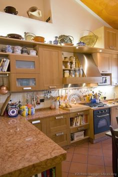 #Kitchen Idea of the Day: Lots of decor in this kitchen... made for cooking!