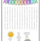 The Seasons Word Search Package includes four word searches (summer, spring, fall and winter)