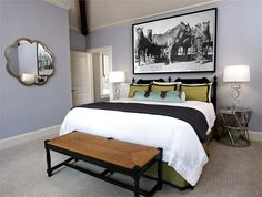 Relaxing Transitional Bedroom by Beth Dotolo & Carolina Gentry on HomePortfolio