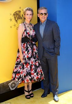 Classy:Stars Kristen Wiig and Steve Carell looked nicely attired for the afternoon event held at the Shrine Auditorium