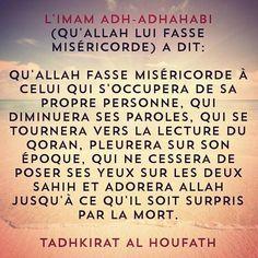 Qu'Allah fasse miséricorde à celui qui s'occupera ...