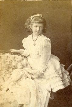 Archduchess Marie Valerie of Austria (1868-1924), daughter of Emperor Franz Joseph (1830-1916) and Empress Sissi (1837-1898), in ca.1874.
