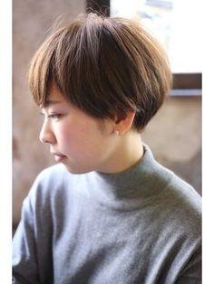 カライングドゥ(ing deux) 【+~ingdeux松本】大人可愛い耳かけグレージュショート