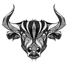 Taurus The Bull Head Tattoo Design