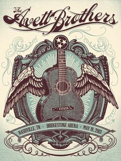 The Avett Brothers Concert Poster