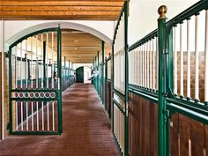 I love the idea of having gates to seperate the stables- especially if it was between borders/owners or stallions/ mares and geldings. If a horse gets loose, they can't go bug the boys/girls.