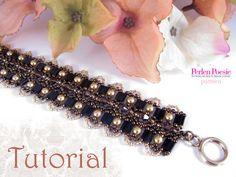 Tutorial for beadwoven tila bead bracelet by TrinketsBeadwork