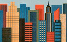 Ben Newman cityscape desktop wallpaper for The Fox is Black's Desktop Wallpaper Project