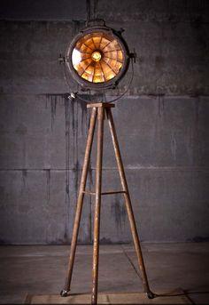 Tripod Searchlight Lamp by Rustorations