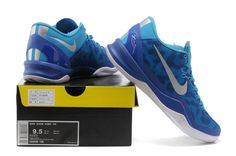 Nike Kobe 8 System iD Men's Basketball Shoe Blue White