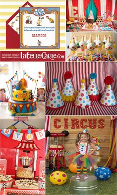 Birthday Kids Invitation Ideas New Ideas Vintage Circus Party, Circus Carnival Party, Circus Theme Party, Carnival Birthday Parties, Carnival Themes, Circus Birthday, Baby First Birthday, First Birthday Parties, Birthday Party Themes