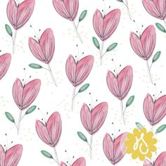 Hannah Smith | Spring Tulips | Module 1 Designing Your Way | September 2015 class | The Art and Business of Surface Pattern Design | Make it in Design