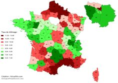 Unemployment by region in France