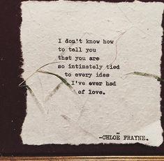 You are. [Chloë Frayne]