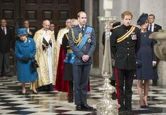 The royal family at St Paul's Cathedral for a service marking the end of combat operations in Afghanistan.