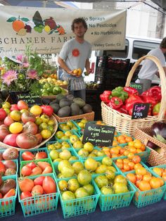 Visit the Little Italy Mercato for fresh produce!