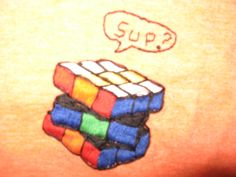 What can I say?  My son is a Rubik's cube collector, so I stitched this on his t-shirt