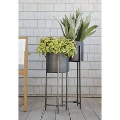 Dundee Floor Planter with Tall Stand in Garden & Patio | Crate and Barrel