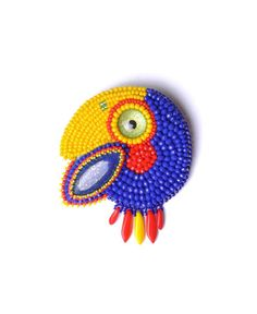 Check out this item in my Etsy shop https://www.etsy.com/uk/listing/503176424/parrot-pin-brooch-macaw-bird-jewelry-pin