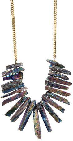 Yochi Design Yochi Stone Statement Necklace on shopstyle.com