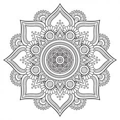 """Printable mandala to color, free for personal use by Visnezh at FreePic. Click the green button """"Baixar Gratuito"""", then """"Download Gratuito"""", then on next page """"Clique aqui"""" if the download doesn't start. Jpg and Eps in zip file."""