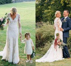 Best wedding dresses lace sheath v neck Ideas Country Wedding Dresses, Best Wedding Dresses, Wedding Gowns, Bridesmaid Dresses, Wedding Country, Lace Wedding, Wedding Card, Trendy Wedding, Wedding Ceremony