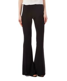Love this Black Flare Pants by Shosho on #zulily! #zulilyfinds