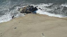 A Terceira Dimensão - Fotografia Aérea: Praia de Miramar e a Capela do Senhor da Pedra