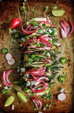 Farmers Market Green Goddess Taco's- Vegan from HeatherChristo.com