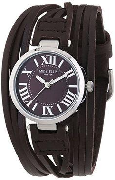 Mike Ellis New York Damen-Armbanduhr XS Brazil Analog Quarz Leder L3185A - http://uhr.haus/mike-ellis-new-york/mike-ellis-new-york-damen-armbanduhr-xs-brazil-2