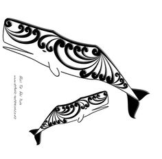 Maori Art - Tohora/Sperm Whale by dragonaotearoa Maori Designs, Henna Designs, Tribal Tattoos, Tatoos, Maori People, New Zealand Art, Surfboard Art, Maori Art, Aboriginal Art