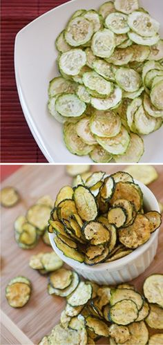 Dehydrated Zucchini Chips Recipe - healthy, vegetarian