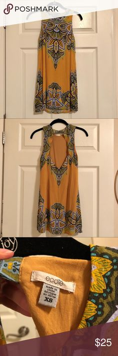 """Urban Outfitters Short and Sleeveless Shift Dress Worn twice.  In great condition.   Double hook eye at the top of the keyhole opening in the back.   This is a short dress.  I am 5'2 and it comes down about an inch below my butt.    29.5"""" long. Urban Outfitters Dresses Mini"""