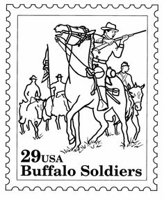 Pin by karen southerland on coloring pages indis for Buffalo soldiers coloring pages