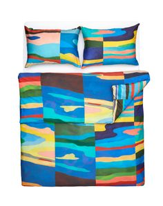 Panoramas - Artist Duvet Covers / Pillows by Roland Schär Bedding Collections, Home Collections, Home Textile, Art World, Luxury Bedding, Linen Bedding, Pillow Covers, House Design, Colours