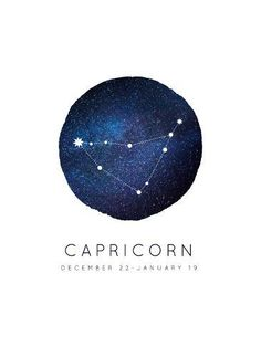 size: Art Print: Capricorn Zodiac Constellation by Kindred Sol Collective : Fine Art Zodiac Signs Capricorn, Zodiac Art, Capricorn Aesthetic, Aquarius Constellation Tattoo, Zodiac Constellations, Principles Of Art, Astrology, Art Prints, Tattoo Watercolor