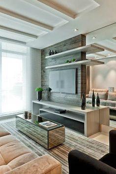 #home teather espelho para ampliar #ambiente www.souzaafonso.com