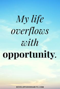 Opportunity quotes - My life overflows with opportunity.