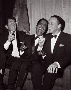 Dean Martin, Sammy Davis, Jr., Frank Sinatra, ca. 1960