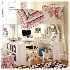 Bunk Bed Desk For Girls - Beds : Home Furniture Design ...
