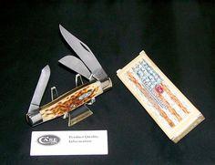 "Case XX 6375 Stockman's Knife Jigged Bone Handles 4-1/4"" W/Packaging, Papers USA @ ditwtexas.webstoreplace.com"