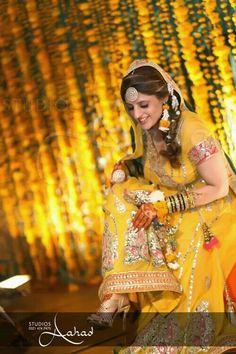 Pretty bride on her mehndi